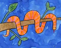 This snake made for a fun drawing in my afterschool class recently. I made a plan for drawing the snake on top of a branch, and then erasing the parts that wouldn't show. It guarantees that the snake segments will all line up with each other. 1. Follow the diagram above to draw a snake in … Read More