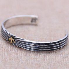 Men's Sterling Silver Eagle Cuff Bracelet - Jewelry1000.com