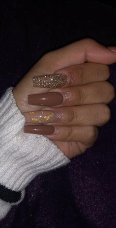 What you need to know about acrylic nails - My Nails Brown Acrylic Nails, Best Acrylic Nails, Brown Nails, Acrylic Art, Aycrlic Nails, Swag Nails, Coffin Nails, Manicure, Grunge Nails