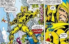 Darkseid's minion Macro Man is challenged by Captain Marvel SHAZAM