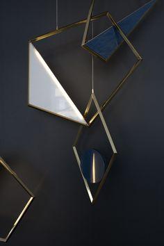 Tangle, a sculptural pendant light, looks like modern pendant jewelry.   MOCO LOCO