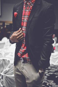 Plaid + blazer