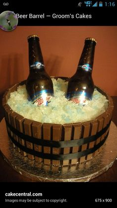 Good idea for my boyfriend cake this year. Just need bud not miler