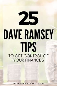 Looking for some actual Dave Ramsey tips? Here are 25 of the BEST Dave Ramsey tips that you'll find. Learn how to get out of debt, budget, save money and more! #daveramsey #daveramseytips #debtfree #debtpayoff