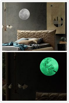 Moon Night I Love You Noctilucence Wall Sticker