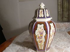 beautiful large italian temple vase,ceramics,pottery maiolica by alomartesantiques on Etsy