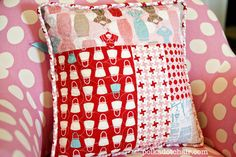 free-arm quilted circles