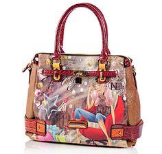 Buy Nicole Lee Kayla Blocked Fashionista Print Tote aa965985c2d07