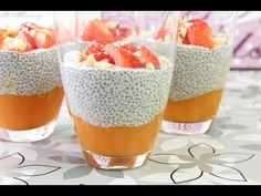 Chia-Papaya-Kokoscreme - Low Carb Dessert