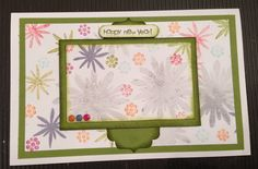 A card for spring, using Stampin' Up! Flower Patch stamp set. moonsongdesigns.wordpress.com