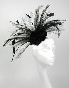 Black Fascinator Kentucky Derby or Wedding Hat by Hatsbycressida, $90.00