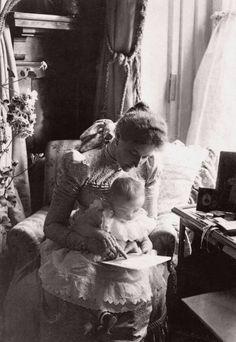 Empress Alexandra Feodorovna of Russia and her daughter, Grand Duchess Tatiana Nikolaevna, 1898
