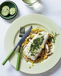 Halibut and Corn Hobo Packs with Herbed Butter Recipe - another easy fish dinner that is hard to mess up!