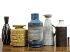West German studio pottery, Jüttner, Körting, Piesch. via