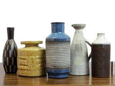 West German studio pottery, Jüttner, Körting, Piesch. via