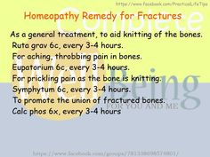Practical Life Tips For You And Me: #Homeopathy #Remedies for #Fractures