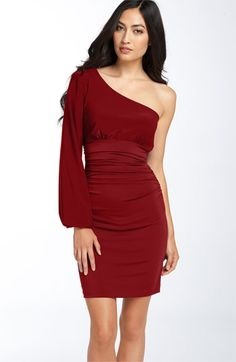 Maggy London One Shoulder Matte Jersey Dress available at Nordstrom
