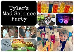 Mad Science Party Ideas ~ here are a few photos and creations from our Mad Science Birthday Party!
