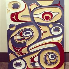 Killer whale orka, by Don Yeomans. (Haida, First Nations, BC, Canada)