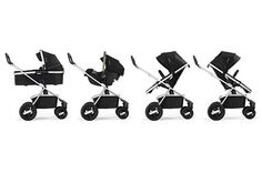 The Nuna IVVI Multi Mode Stroller features every imaginable combination of infant and toddler stroller combinations.: