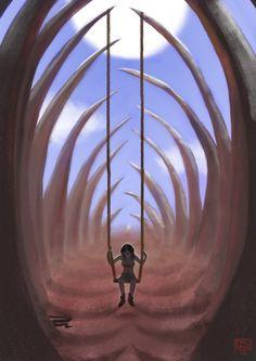 Seule dans la cage Cage, Stone
