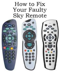 How to fix your faulty Sky TV Remote http://www.ebay.co.uk/sch/m.html?_odkw=&_ipg=50&_sop=12&_osacat=0&_ssn=robs_rare_recordings&_trksid=p2046732.m570.l1313&_nkw=sky&_sacat=0&_from=R40