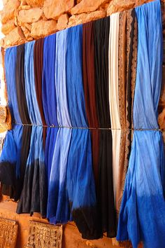 Indigo blue. Color of the Berber people in Morocco. by elsa11, via Flickr
