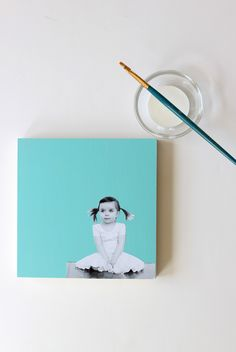 Cool DIY Father's Day gifts: How to make your own wood mounted photo art craft for dad | tutorial: Project Nursery