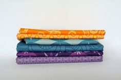 Color Scheme idea for patio fabrics to combine my Viking Purple with Randy's Cowboy blue.  Blue, Purple, & yellow-orange.  Great color combo for patio planting too :)