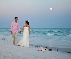 sunset beach wedding destin