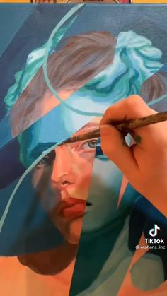 Canvas Painting Tutorials, Diy Canvas Art, Painting Videos, Posca Art, Art Drawings Sketches, Art Sketchbook, Portrait Art, Painting Techniques, Gouache