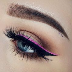 black and pink eyeliner