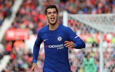 Scarica sfondi Alvaro Morata, Chelsea, Premier League, il calciatore spagnolo, di calcio, Inghilterra