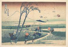 冨嶽三十六景 駿州江尻<br/>Ejiri in Suruga Province (Sunshū Ejiri), from the series Thirty-six Views of Mount Fuji (Fugaku sanjūrokkei)