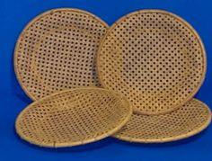 Wicker Rattan Plate Holders | eBay
