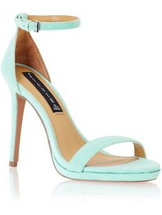 Just got these mint jewels!  Can't wait for warmer weather to wear with a chic french pedi. Steve Madden Rykie Mint Suede