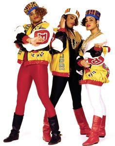 Salt-N-Pepa album cover in 1988, featuring Dapper Dan creations