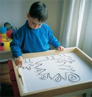 need to make Sand Tray for light table... Use picture frame and seal edge...