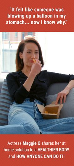 Hollywood Actress shows how to get the many benefits of a healthy digestive tract.