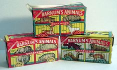 My mom used to buy us these little boxes of Animal Crackers when we would go grocery shopping with her
