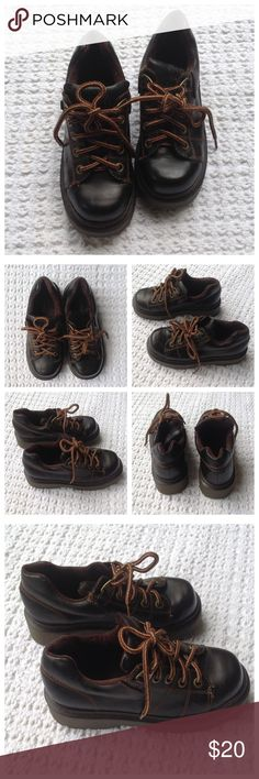 Soda Brown Leather Boots. Size 6.5. Soda. Brown leather lace up boots. Size 6.5. Good used condition. Soda Shoes Combat & Moto Boots
