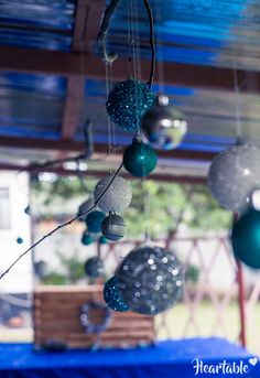 Blue and silver Christmas Baubles Decor - www.heartable.co.za