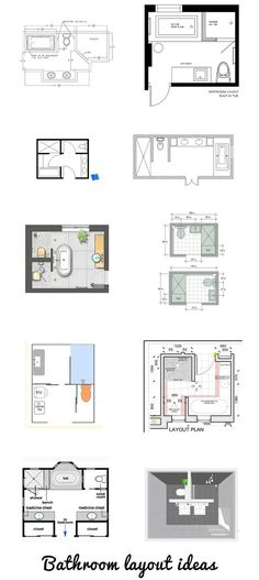 Small Bathroom Floor Plans 3 Option Best For Small Space Mimari Pinterest Small Bathroom