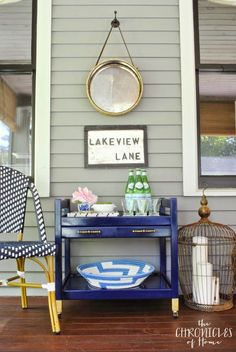 Pretty Screened Porch by The Chronicles of Home