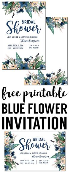 Floral Invitation Template {free printable Free invitation - best of free invitation templates for retirement party
