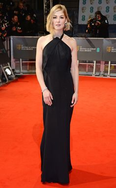 Rosamund Pike from 2015 BAFTA Film Awards: Red Carpet Arrivals  The Gone Girl star, in Roland Mouret, is nominated in the Best Actress in a Leading Role category.
