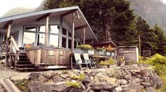 A BC fishing lodge located in the migration path of the Pacific salmon, featuring career guides, consistent big catches and world-class service and accommodation Pacific Salmon, Vancouver Island, Paths, Fishing, Cabin, House Styles, World, Home Decor, Decoration Home