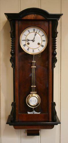 Spring Vienna Regulator Wall Clock (Germany, c. 1890)