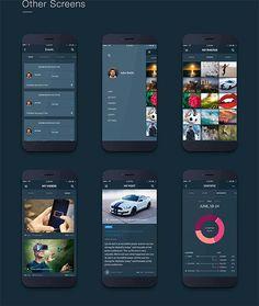 Fire Social App - Free Mobile UI Kit By Vadivel G