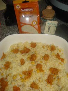Arroz de Grão com Farinheira Portuguese Recipes, Portuguese Food, Cheeseburger Chowder, Oatmeal, Soup, Potatoes, Vegetables, Breakfast, 1